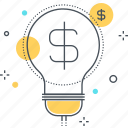 cash, economy, idea, lamp, money, revenue, tax icon