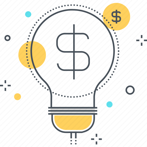 cash, economy, idea, lamp, money, revenue, tax icon