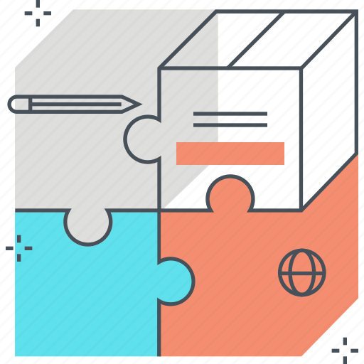fit, jigsaw, market, marketing, product, puzzle, solving icon
