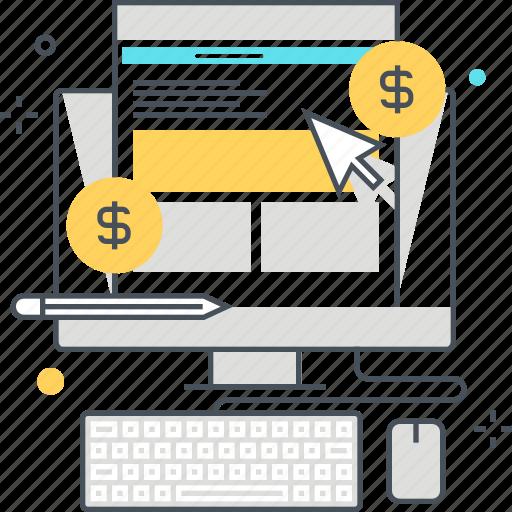 computer, cursor, digital, marketting, media, social, website icon
