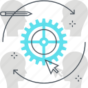 cog, customer, customer retention, satisfaction, wheel icon