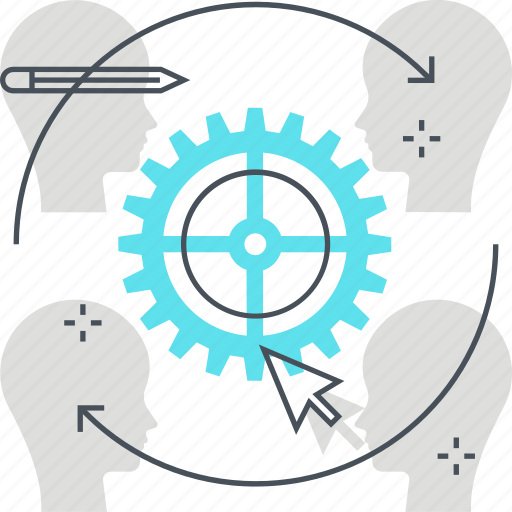 cog, customer, customer retention, satisfaction, wheel icon