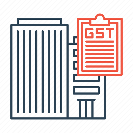 building, estate, gst, home, loan, real, tax icon