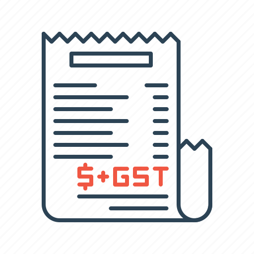 bill, document, gst, law, online, payment, tax icon