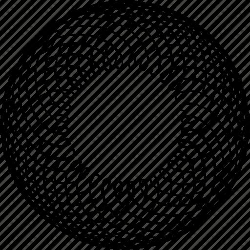 art nouveau, circle, frame, guilloche, rosette, spirograph, sunflower icon