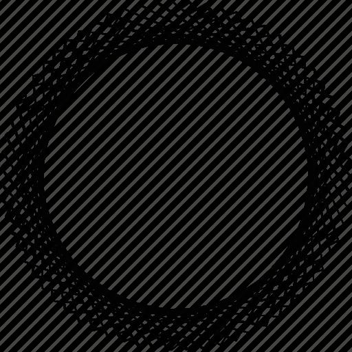 art deco, circle, frame, guilloche, rosette, spirograph, sunflower icon