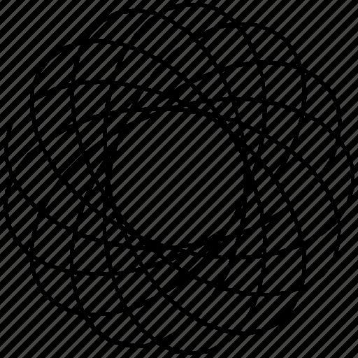 circle, guilloche, rosette, spirograph, sunflower icon