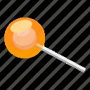 candy, cartoon, food, glossy, lollipop, lollypop, orange icon