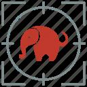 animal, body, elephant, hunting, shoot, skin icon