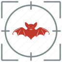 bat, hunting, shoot, vampire icon