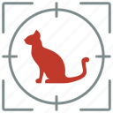 animal, cat, hunting, kitty, pet, shoot icon