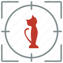 animal, cat, hunting, pet, shoot icon
