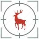 animal, deer, forest, hunting, shoot, wild icon