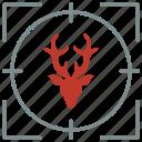 animal, deer, head, horns, shoot, wild icon