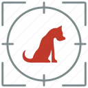 animal, dog, hunting, pet, shoot icon