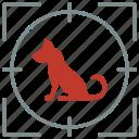 animal, dog, hunting, pet, seat, shoot icon