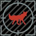 animal, fox, hunting, shoot, wild, wolf icon