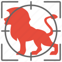 animal, cat, hunter, hunting, lion, wild icon
