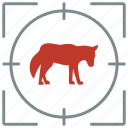 animal, hunting, lonely, shoot, wild, wolf icon