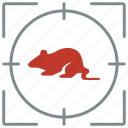 animal, hunting, mouse, rat, shoot, zoo icon