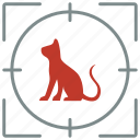 animal, cat, hungry, hunting, kitty, pet, shoot icon