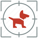 animal, child, dog, hunting, pet, puppy, shoot icon