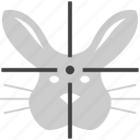 face, hare, rabbit, skin, target, zoo icon