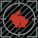 animal, hare, hunting, rabbit, shoot, zoo icon