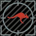 animal, hunting, kangaroo, shoot, wallaroo, zoo icon