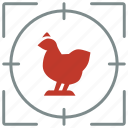 animal, bird, chicken, hunting, shoot, zoo icon