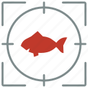 aquarium, fish, hunting, piranha, shoot, zoo icon