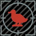 animal, bird, goose, hunting, shoot, zoo icon