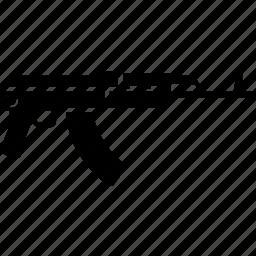 ak47, gun, military, rifle, terrorist, war, weapon icon