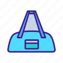 accessory, bag, gym, pocket, sportive, sports, suit icon