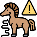 trojan, horse, decoy, alert, deception