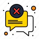 attention, chat, error, message icon
