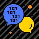 code, development, integrate, message icon