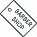 barber shop, barber tag, hair salon, hairdressing, salon, shop tag icon