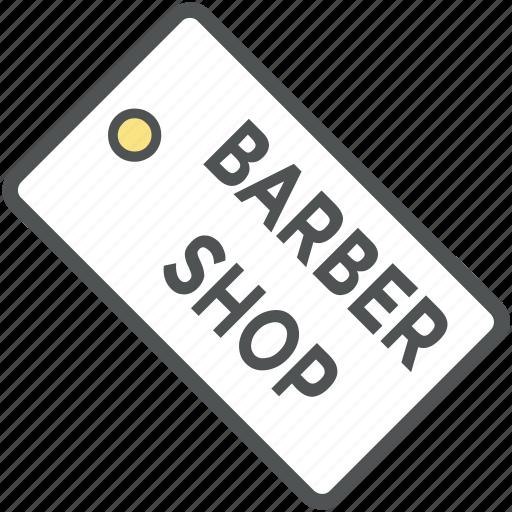 barber shop, barber tag, hair salon, hairdressing, salon, shop tag icon