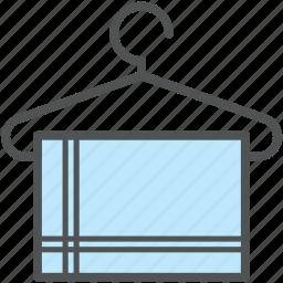 bathing, hanged towel, hanger, shower, towel, towel on hanger, wiping towel icon