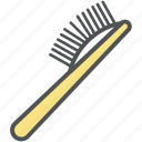 brush, comb brush, hair brush, hair dressing, hair style, paddle brush icon