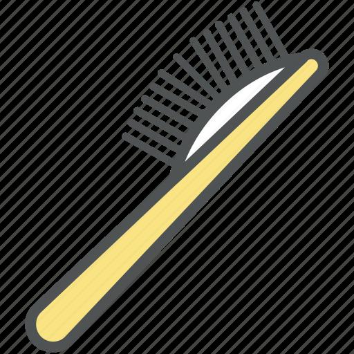 brush, comb brush, hair brush, hair dressing, hair style, paddle brush icon