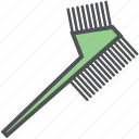color comb, comb, dye comb, hair comb, hair salon, hair styling, hairdressing icon