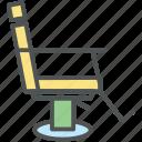 barber chair, cutting chair, salon chair, salon furniture, styling chair icon