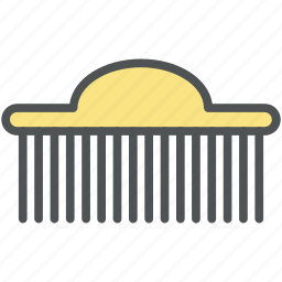 afro comb, comb, hair comb, hair salon, hair style, neck brush icon