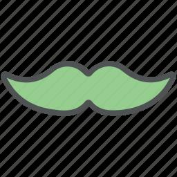 handlebar moustache, hipster, moustache, mustache, mustachio icon