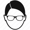 avatar, glasses, male, man, profile, user icon