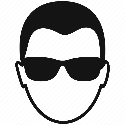 avatar, glasses, male, man, profile, user icon