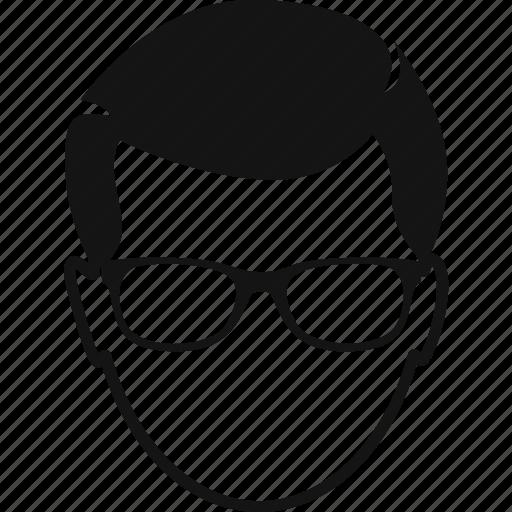 avatar, glasses, male, man, person, profile, user icon