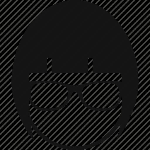 avatar, glasses, profile, user, woman icon